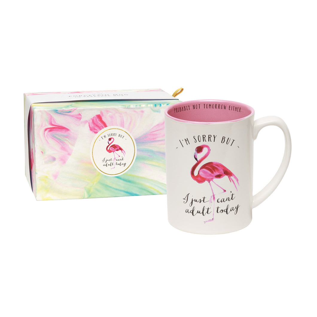 I'm Sorry, But I Just Can't Adult Today Boxed Mug
