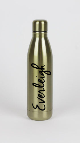 Full Name Gold Metallic Water Bottle