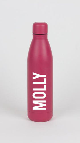 Full Name Matte Pink Water Bottle