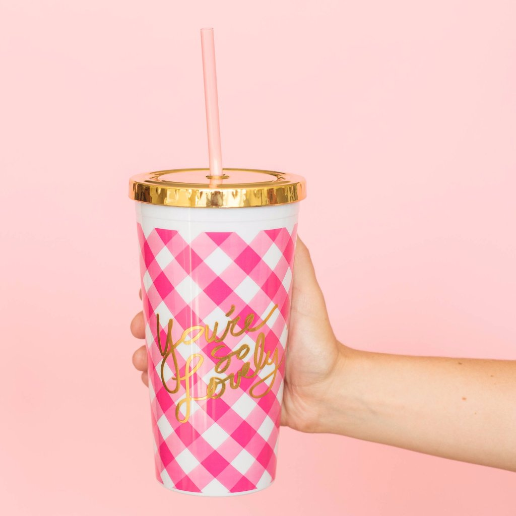 You're So Lovely Drink Tumbler w/ Straw