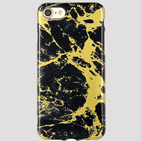 Gold and Black Marble iPhone Case