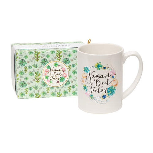 Namaste in Bed Today Boxed Mug