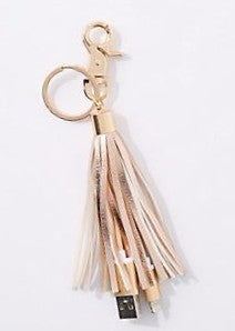 Rose Gold Tassel USB Keychain