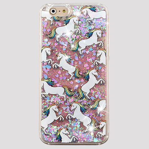 Floating Glitter Unicorn iPhone Case