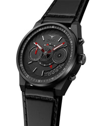 ZINVO Men's Chrono Black Watch Side View