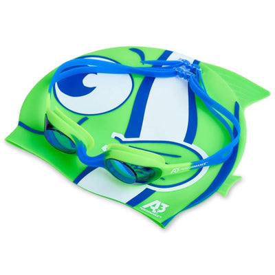 A3 Performance Flex Goggle and Fish Cap Combo - Kids
