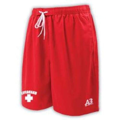 A3 Performance Guard Male Water Short w/ logo - Red 400 / XL - Male