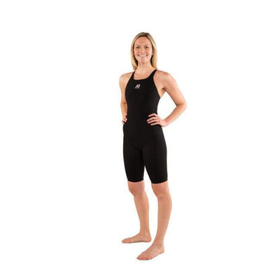 A3 Performance Legend Female Powerback Technical Racing Swimsuit - 28 / Black 100 - Female