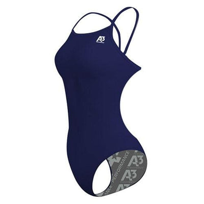 A3 Performance Solid Female Flashback Swimsuit - Navy 350 / 24 - Female