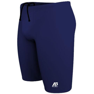 A3 Performance Solid Male Jammer Swimsuit - 18 / Navy 350 - Male