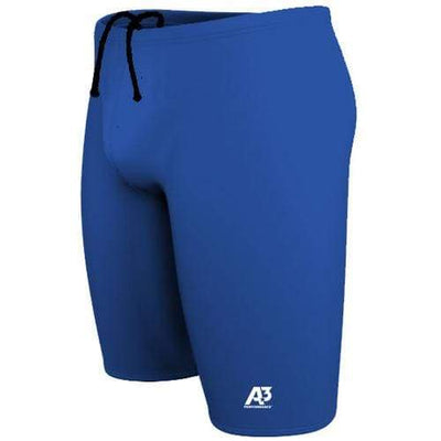 A3 Performance Solid Male Jammer Swimsuit - 20 / Royal 300 - Male