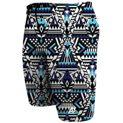 A3 Performance Tribal Geo Male Jammer Swimsuit - Blue 300 / 18 - Male