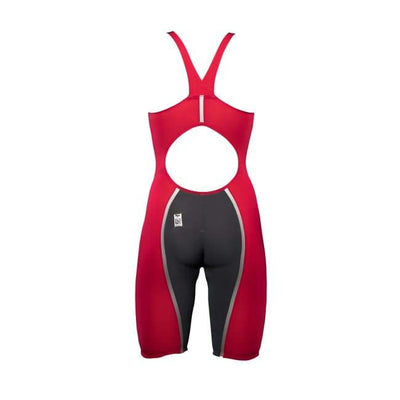 A3 Performance Vici Female Powerback Technical Racing Swimsuit - Red/silver 400 / 18 - Female
