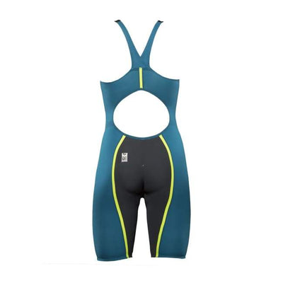 A3 Performance Vici Female Powerback Technical Racing Swimsuit - Teal/yellow 859 / 18 - Female