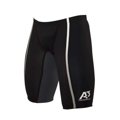 A3 Performance Vici Male Jammer Technical Racing Swimsuit - Black/silver 100 / 22 - Male