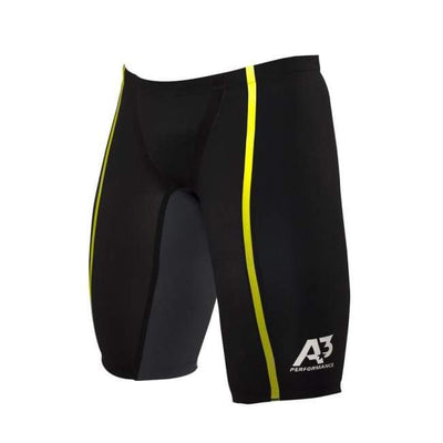 A3 Performance Vici Male Jammer Technical Racing Swimsuit - Black/yellow 109 / 22 - Male