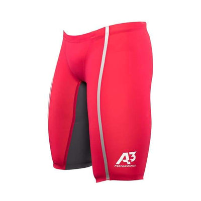 A3 Performance Vici Male Jammer Technical Racing Swimsuit - Red/silver 400 / 22 - Male