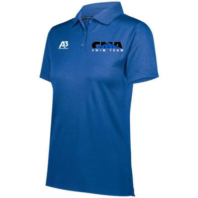 CMA Prism Polo - Royal 060 / Ladies X-Small - Cheyenne Mountain Aquatics