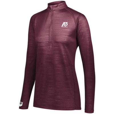 Converge Ladies 1/2 Zip Pullover - Maroon 745 / Ladies XS - Apparel