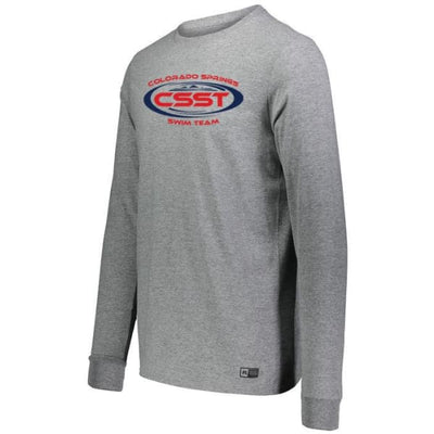 CSST Essential Long Sleeve Tee - Grey / Adult Small - Colorado Springs Swim Team
