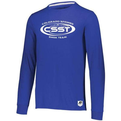 CSST Essential Long Sleeve Tee - Royal / Adult Small - Colorado Springs Swim Team