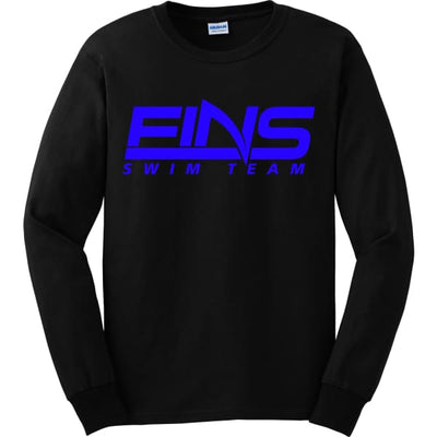 FINS Long Sleeve Shirt - Black / Adult Small - FINS Swim Team