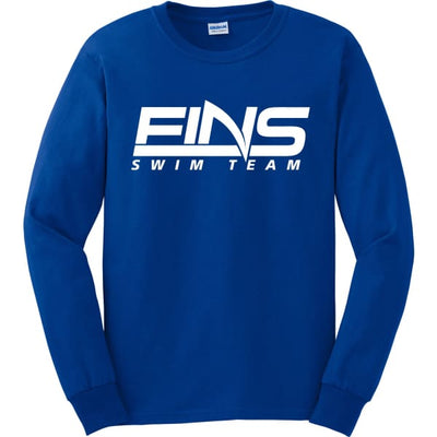 FINS Long Sleeve Shirt - Royal / Adult Small - FINS Swim Team