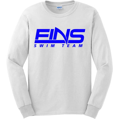 FINS Long Sleeve Shirt - White / Adult Small - FINS Swim Team