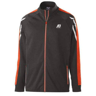 Flux Jacket - BLACK HEATHER/ORANGE/WHITE 873 / Small - Team Apparel