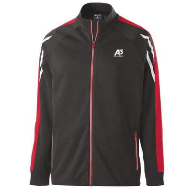 Flux Jacket - BLACK HEATHER/SCARLET/WHITE 877 / Small - Team Apparel
