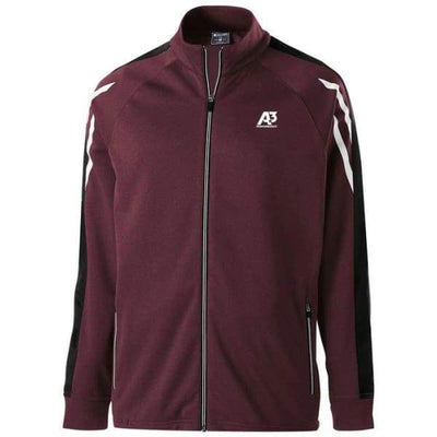 Flux Jacket - MAROON HEATHER/BLACK/WHITE 871 / Small - Team Apparel
