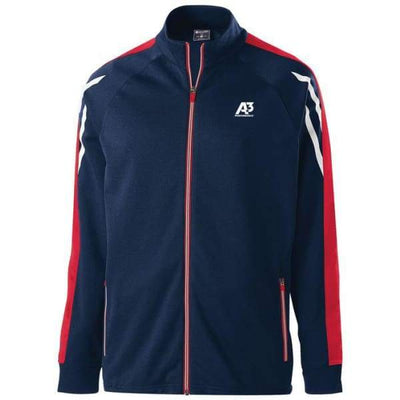 Flux Jacket - NAVY HEATHER/SCARLET/WHITE 867 / Small - Team Apparel