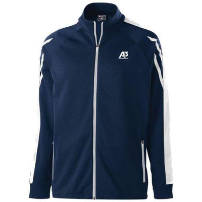 Flux Jacket - NAVY HEATHER/WHITE/WHITE 882 / Small - Team Apparel