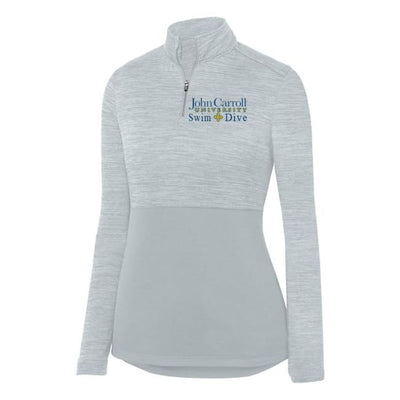 Jcu Shadow Tonal Ladies 1/4 Zip (Friday Shirt) - John Carroll University Swimming