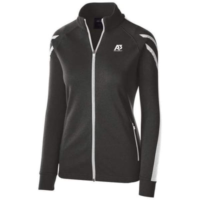 Ladies Flux Jacket - BLACK HEATHER/WHITE/WHITE 879 / Ladies Small - Team Apparel