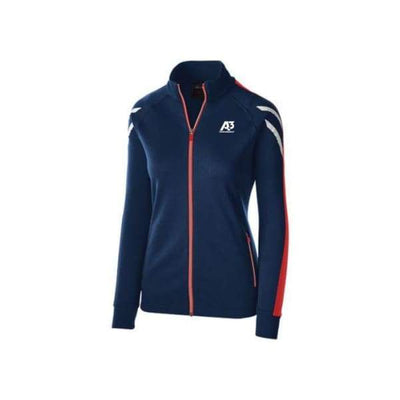 Ladies Flux Jacket - NAVY HEATHER/SCARLET/WHITE 867 / Ladies Small - Team Apparel