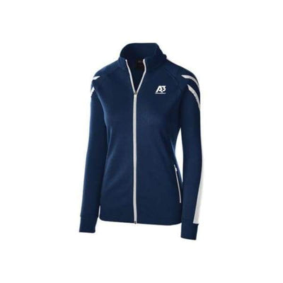 Ladies Flux Jacket - NAVY HEATHER/WHITE/WHITE 882 / Ladies Small - Team Apparel