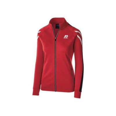 Ladies Flux Jacket - SCARLET HEATHER/BLACK/WHITE 876 / Ladies Small - Team Apparel