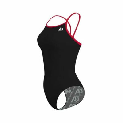 PRACTICE Contrast Female Xback - Black/Red 106 / 18 - Team Store