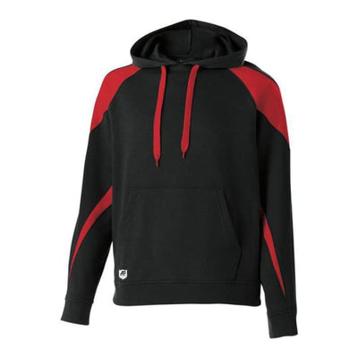 Prospect Hoodie - Black/Scarlet 500 / Adult Small - Apparel