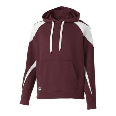 Prospect Hoodie - Maroon/White 380 / Adult Small - Apparel