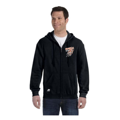 Roseville Full Zip Sweatshirt - Black / Adult X-Large - Roseville High School