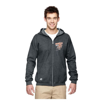 Roseville Full Zip Sweatshirt - Charcoal / Adult X-Large - Roseville High School