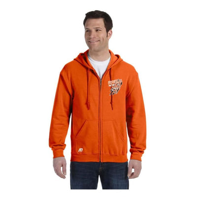 Roseville Full Zip Sweatshirt - Orange / Adult Medium - Roseville High School