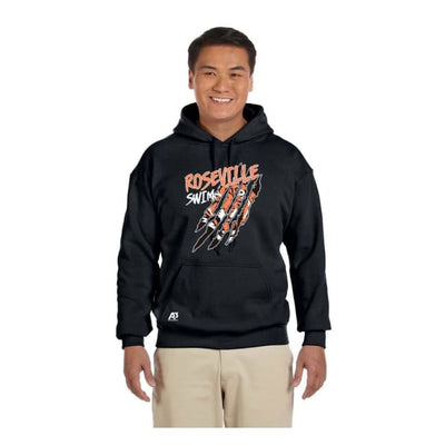 Roseville Hooded Sweatshirt - Black / Adult X-Large - Roseville High School