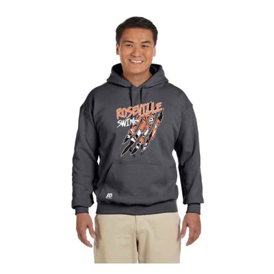 Roseville Hooded Sweatshirt - Charcoal / Adult X-Large - Roseville High School