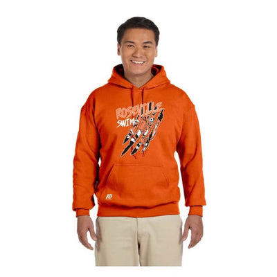Roseville Hooded Sweatshirt - Orange / Adult X-Large - Roseville High School