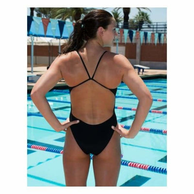 SIU A3 Performance Solid Female Flashback Swimsuit - Southern Illinois University