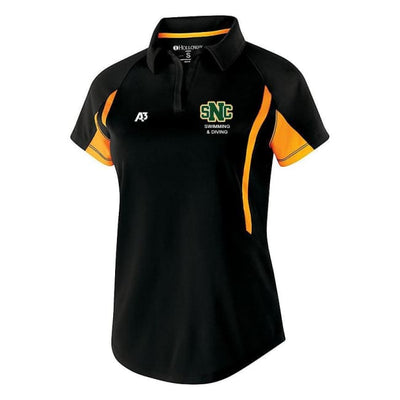Snc Avenger Polo - Ladies X-Small / Black/gold - St. Norbert College