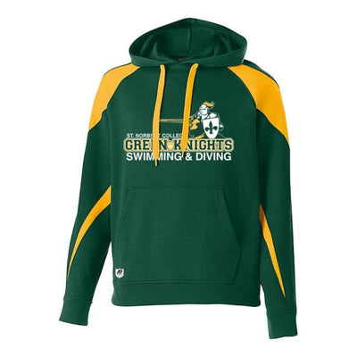 Snc Prospect Hoodie - Adult Small / Dark Green/gold - St. Norbert College